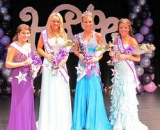 The Miss Blue Ridge Relay for Life 2013 winners, left to right: Kennedy Crump, Keri McKittrick, Kaylee Henderson, and Bailee Seppala.