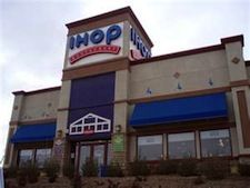 The traditional 3-story high entrance may be the facade of the Greer IHOP. The restaurant also may use a lower ceilinged entry.